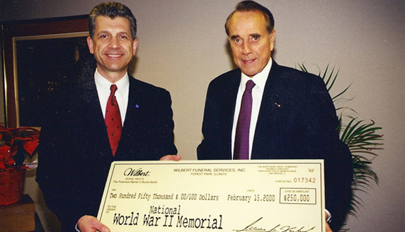 image of Bill Forsberg and Senator Bob Dole
