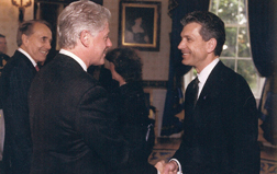 image of Bill Forsberg with President Bill Clinton